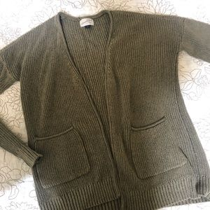 Universal Thread Olive Open Front Cardigan - XS
